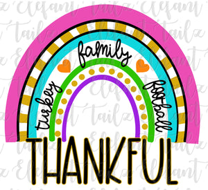 Funky Thanksgiving Rainbow 2 Blank