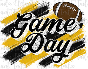 Game Day Football Black & Gold