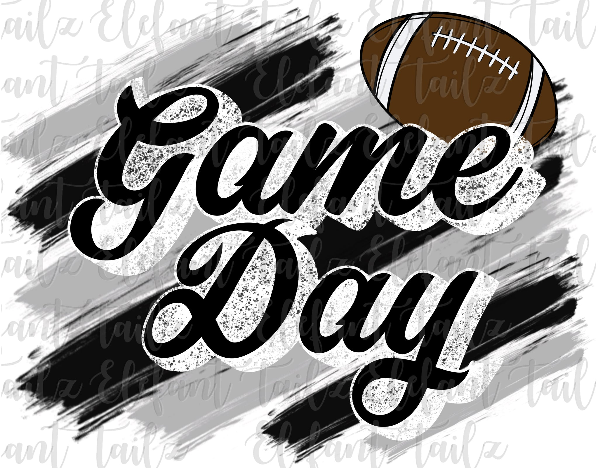 Game Day Football Black & Gray