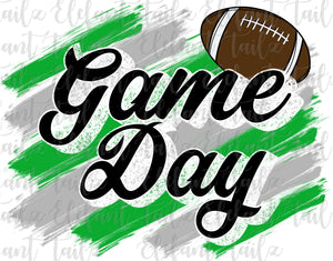 Game Day Football Green & Gray