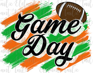 Game Day Football Orange & Green
