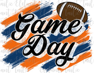 Game Day Football Orange & Navy