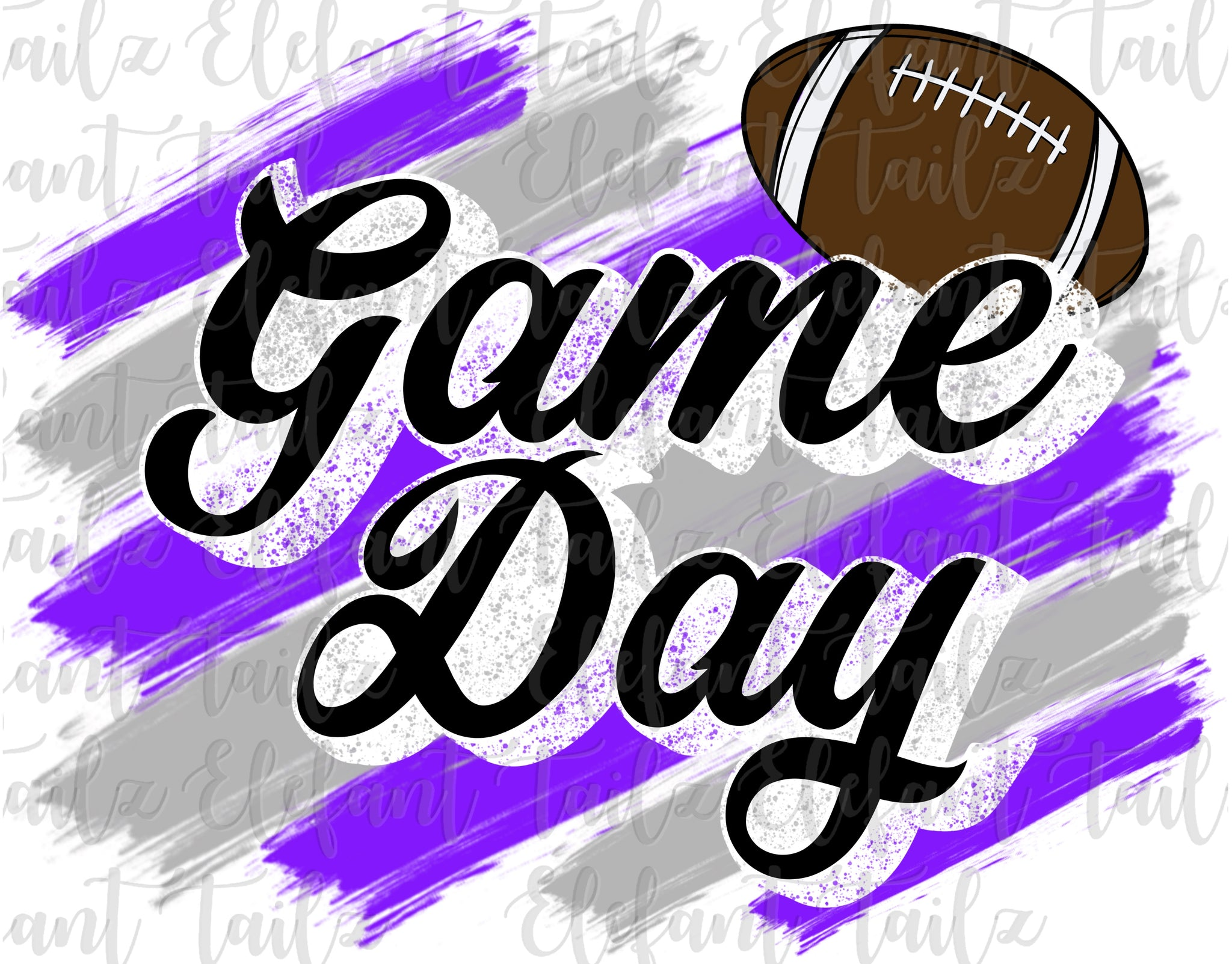 Game Day Football Purple & Gray
