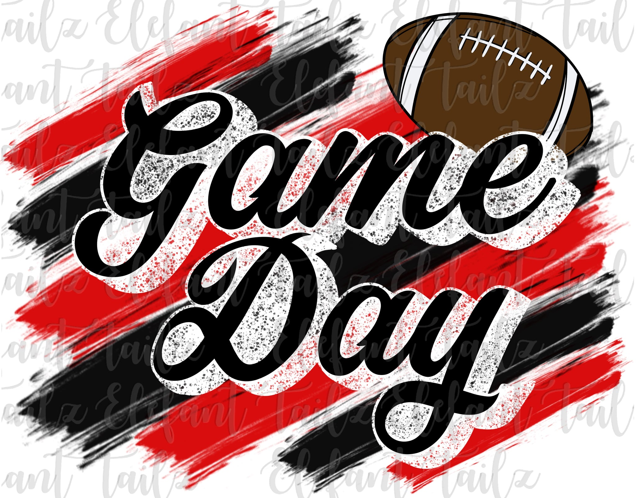 Game Day Football Red & Black