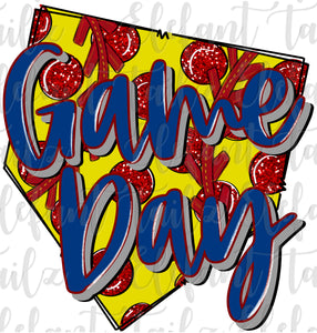 Game Day Polka Dot Softball Base