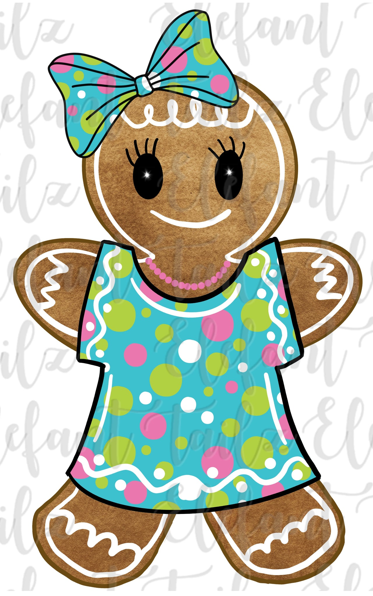 Gingerbread Girl Bright Dress
