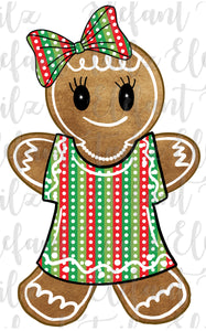 Gingerbread Girl Stripe & Dot Dress