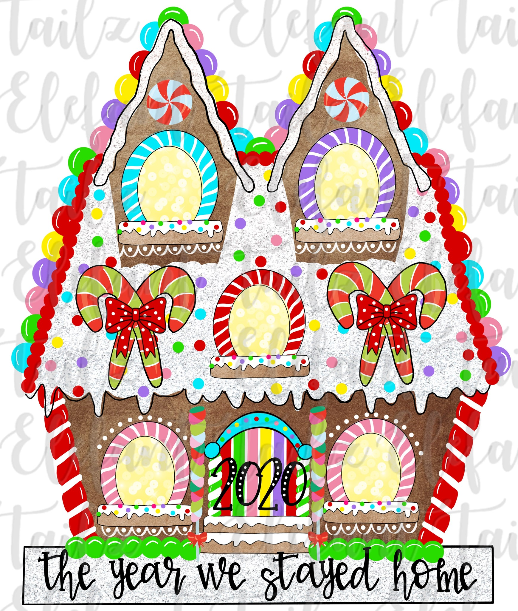 Gingerbread House 5 Windows - 2020