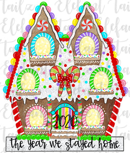 Gingerbread House 6 Windows - 2020