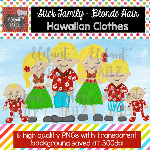 Hawaiian Family - Blonde Hair