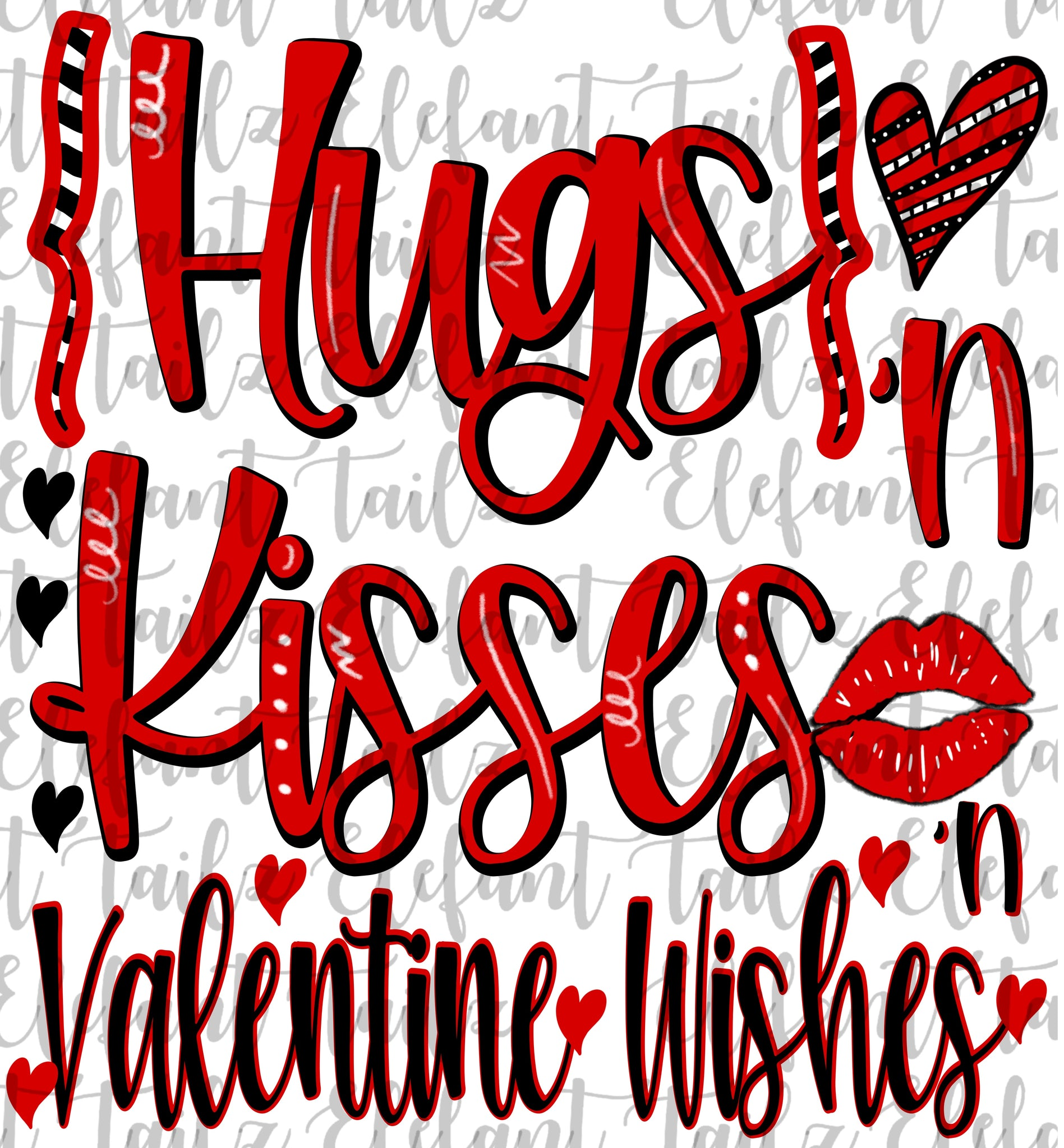 Hugs & Kisses & Valentine Wishes