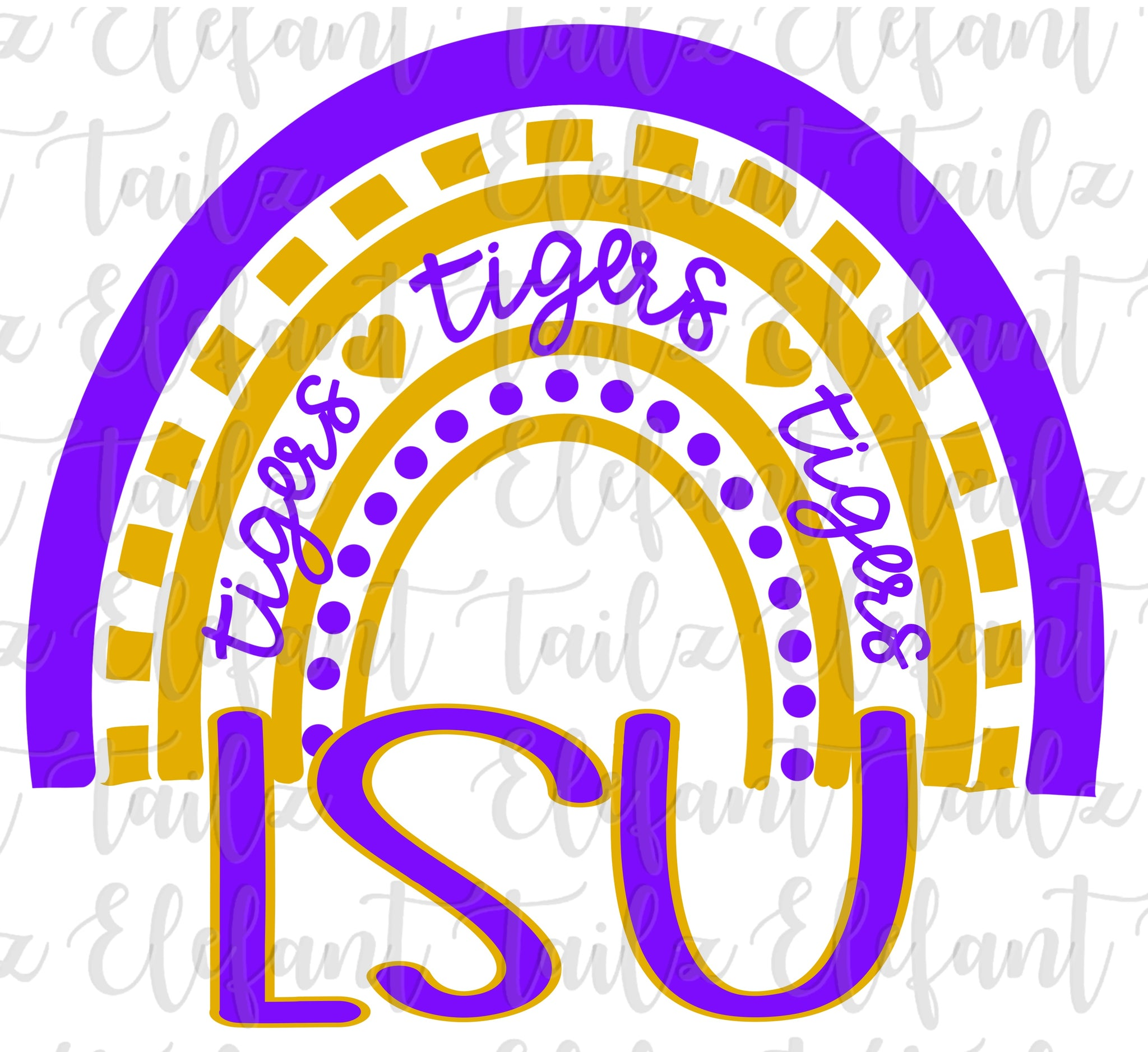 LSU Tigers Rainbow