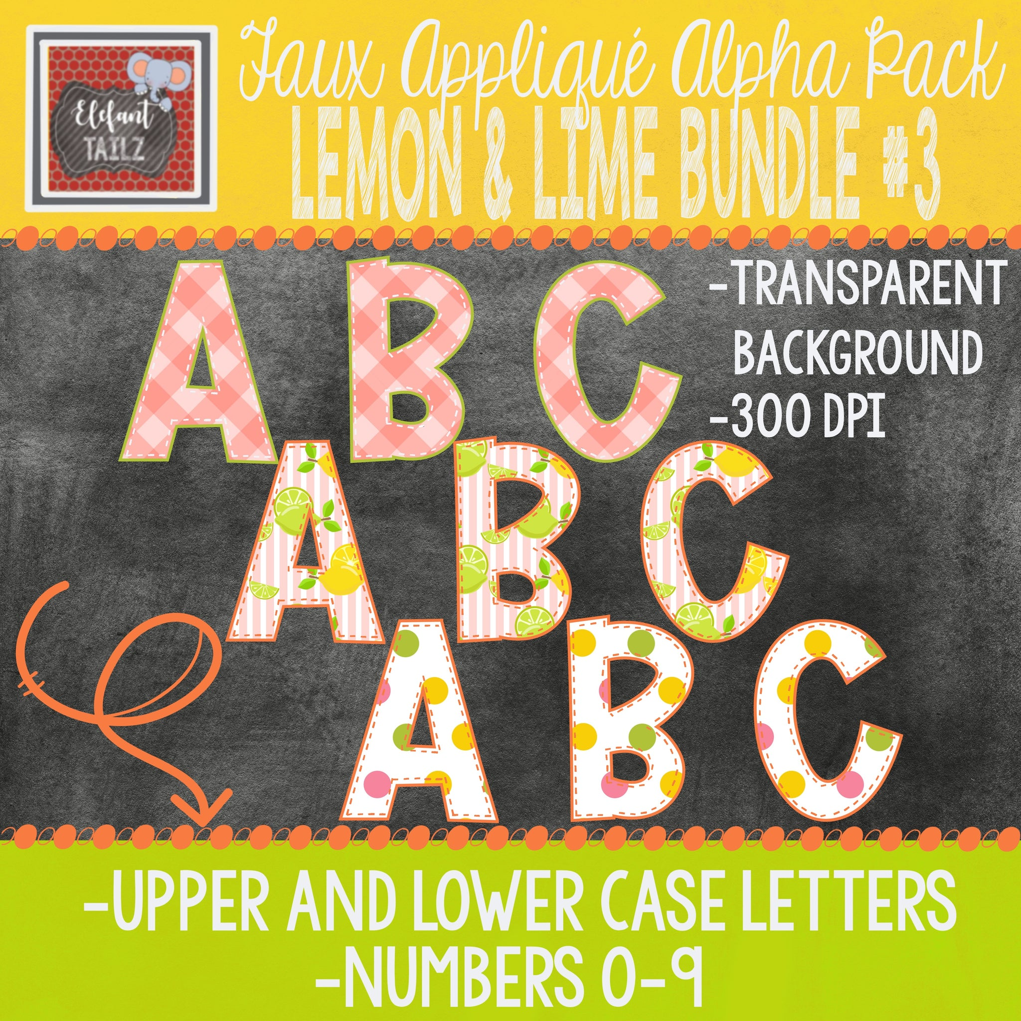 Alpha & Number Pack - Lemon & Lime BUNDLE #3