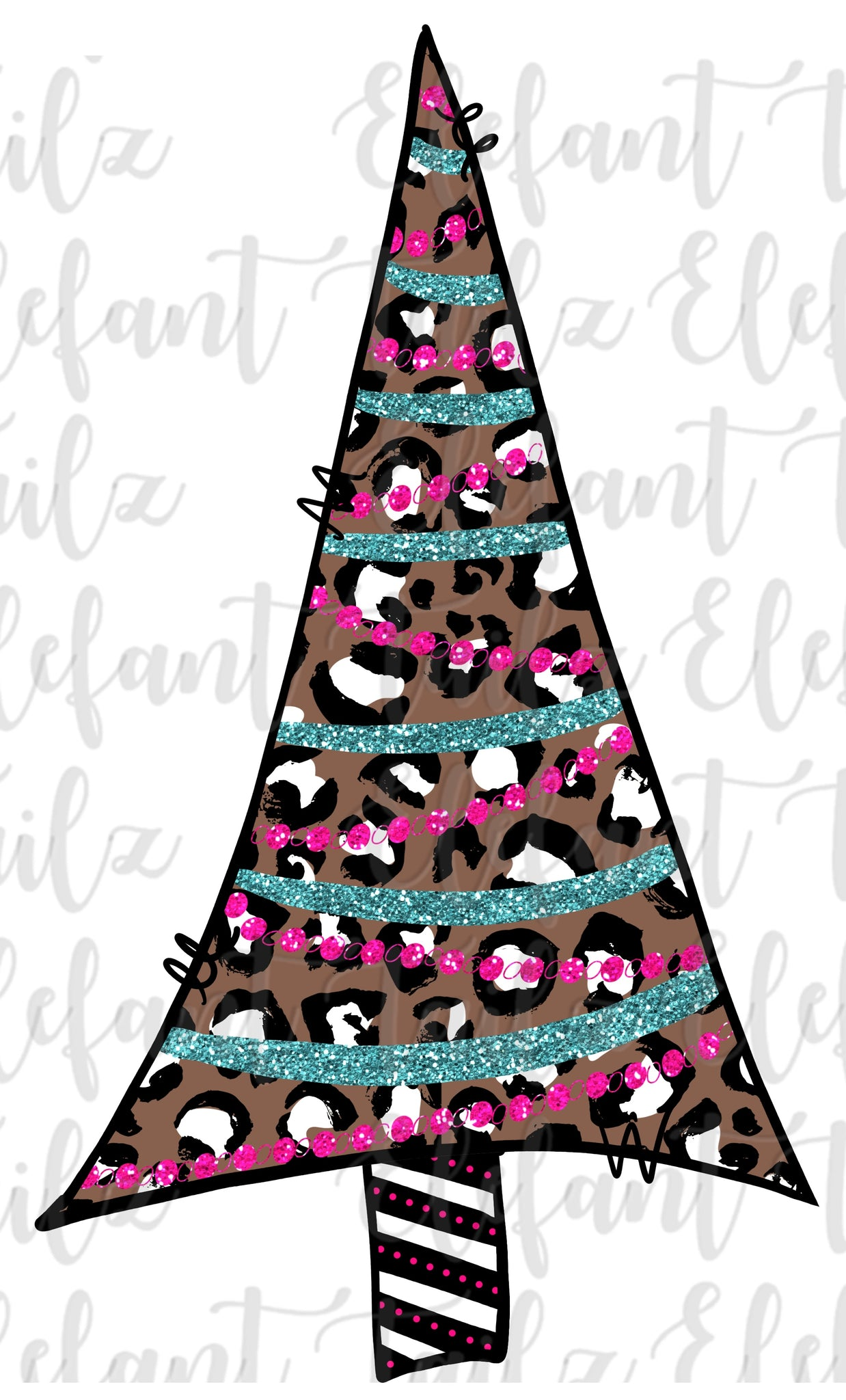 Leopard Christmas Tree