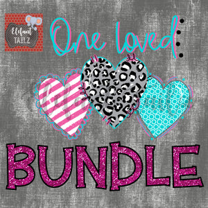 One Loved Leopard Heart Trio Bundle