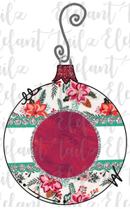 Matilda Jane Holiday Floral Ornament #1