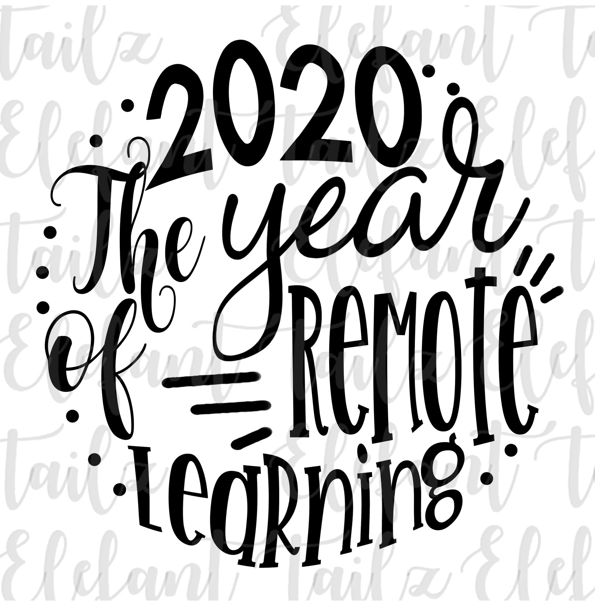 Ornament Rounds - 2020 Year of Remote Learning #2