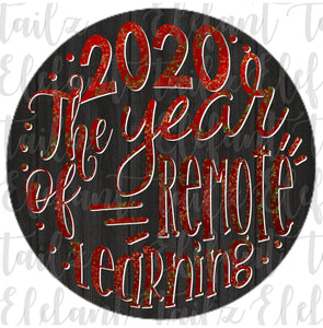 Ornament Rounds - 2020 Year of Remote Learning #1