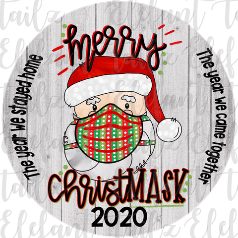 Ornament Rounds - 2020 Santa Merry ChristMASK