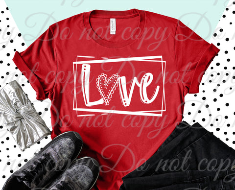 Love Boxed *ADULT* Screen Print - READY TO SHIP