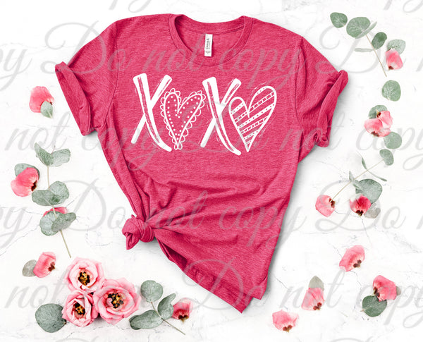 XOXO Hearts *ADULT* Screen Print - READY TO SHIP