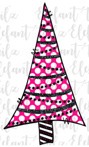 Pink Polka Dot Christmas Tree