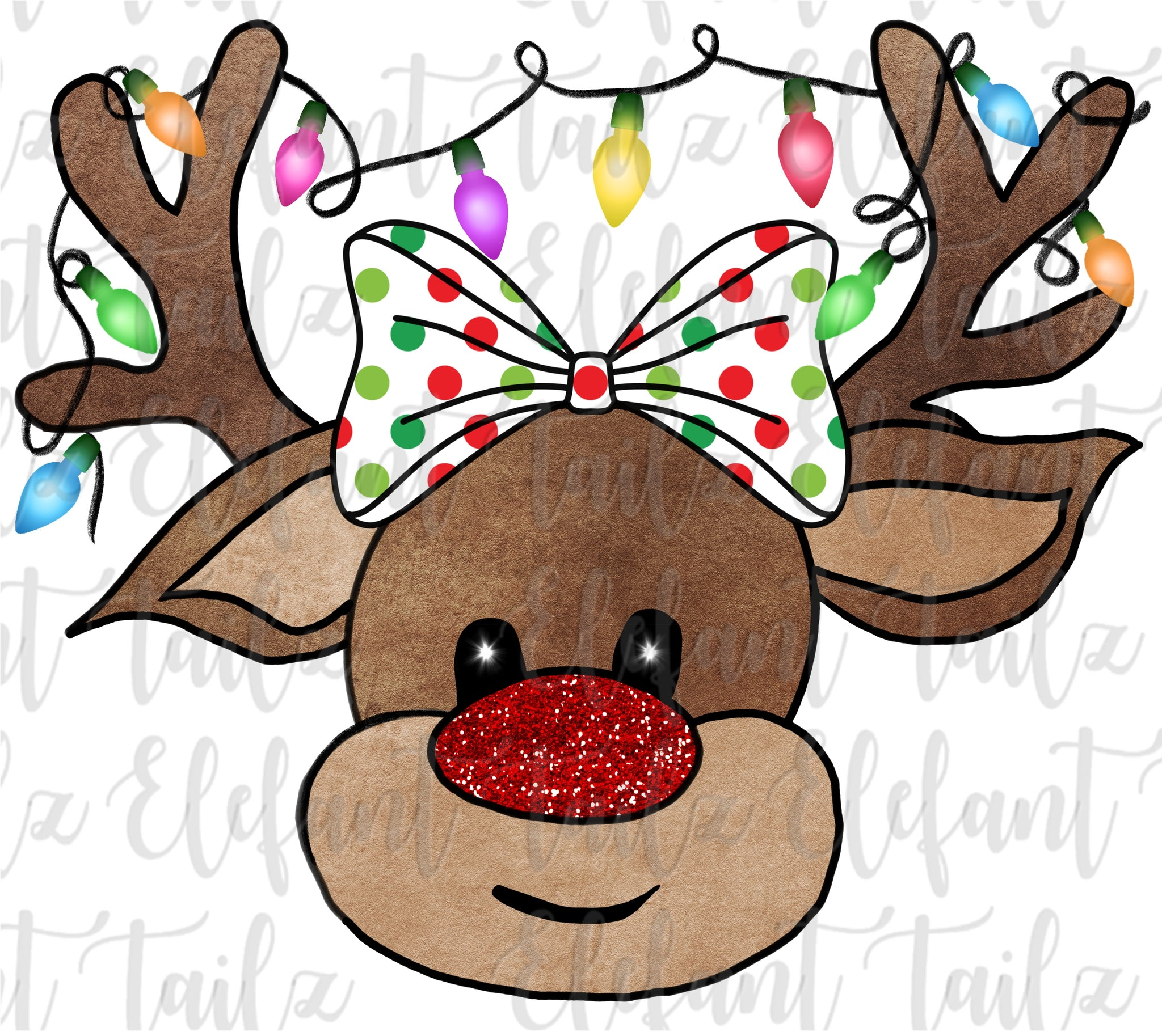 Reindeer with Hair Bow #2