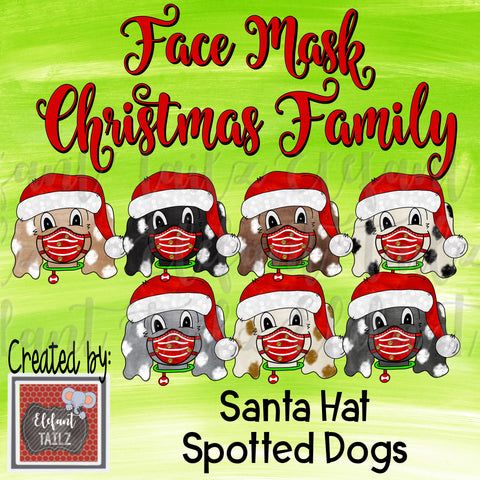 Face Mask Christmas Family - Spotted Dogs