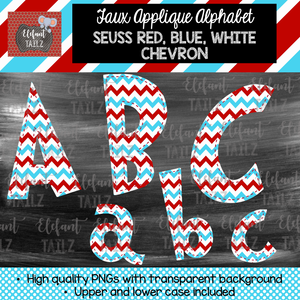 Red Blue White Chevron Alpha Pack