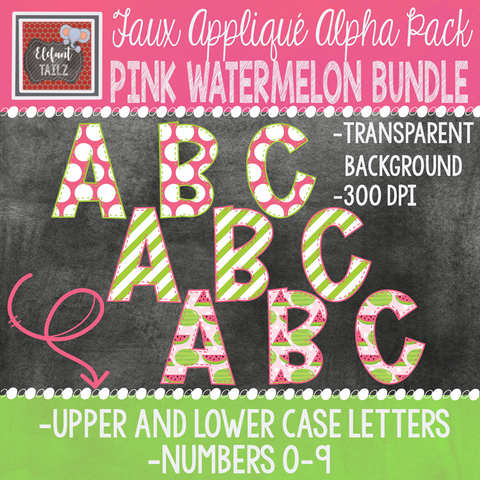 Alpha & Number Pack - Pink Watermelon BUNDLE