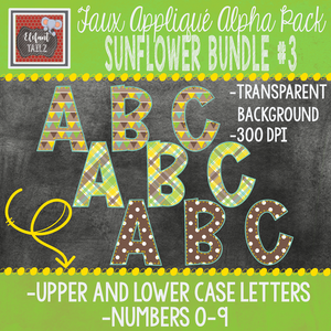 Alpha & Number Pack - Sunflower BUNDLE #3