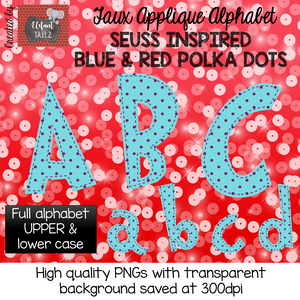 Blue with Small Red Polka Dots Alpha Pack