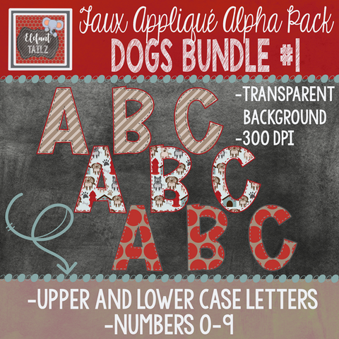 Alpha & Number Pack - Dogs BUNDLE #1