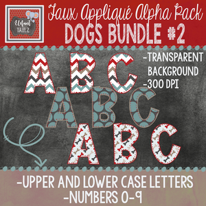Alpha & Number Pack - Dogs BUNDLE #2