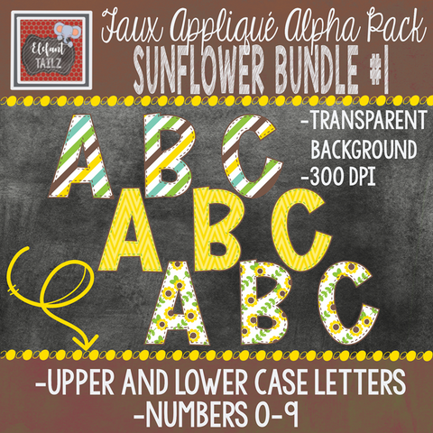 Alpha & Number Pack - Sunflower BUNDLE #1