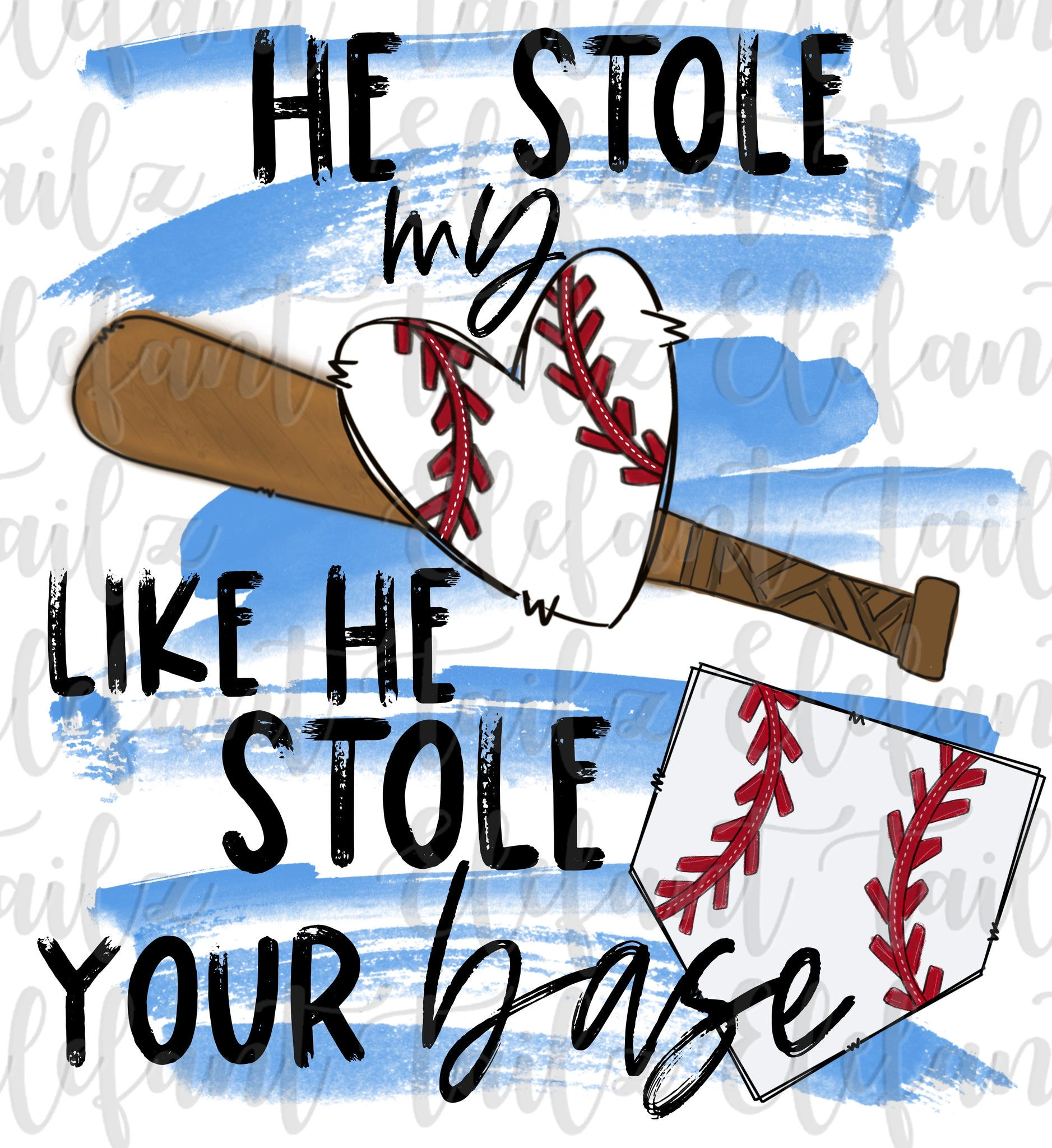 Baseball Stolen Heart Stolen Base