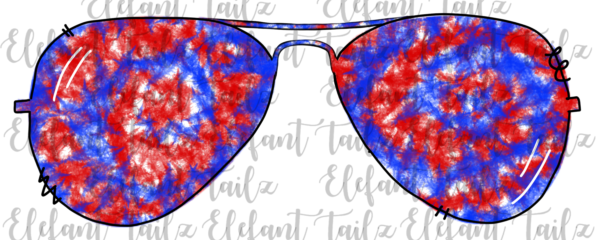 Patriotic Tie Dye Sunglasses