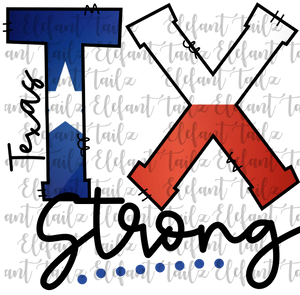 Texas Strong with Flag