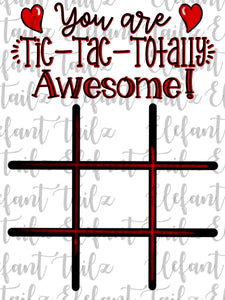 Tic-Tac-Totally Awesome Valentine