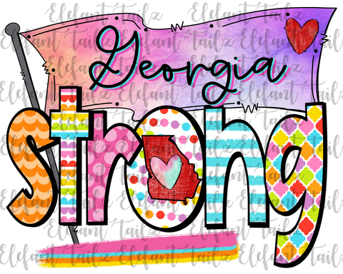 Colorful Georgia Strong