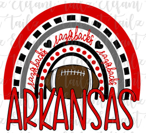 Football Arkansas Razorbacks Rainbow