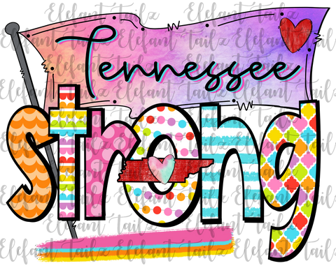 Colorful Tennessee Strong