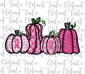 Breast Cancer Awareness Pink Pumpkins