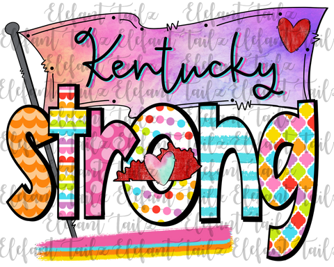 Colorful Kentucky Strong