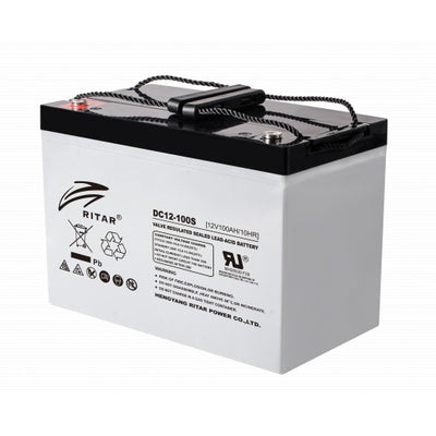 stromkilden-no - RITAR AGM Deep Cycle Batteri 12V 100AH (307x169x211mm) +venstre 140AH 100t - Batteri