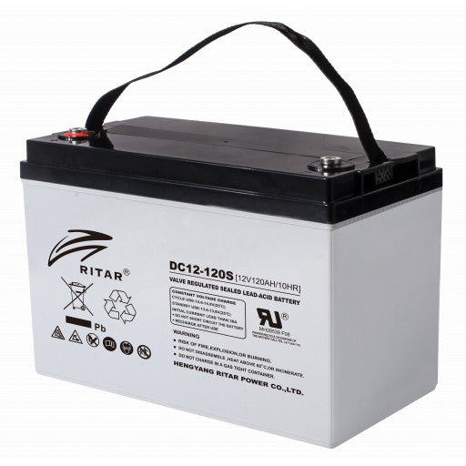 RITAR AGM Deep Cycle Batteri 12V 120AH