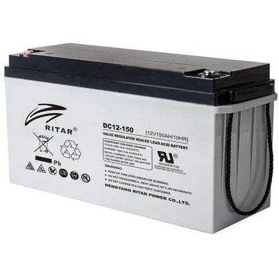 stromkilden-no - RITAR AGM Deep Cycle Batteri 12V 150AH (483x170x241mm) +venstre 210AH 100t - Batteri