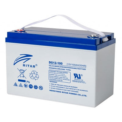 stromkilden-no - RITAR GEL Deep Cycle Batteri 12V 100AH (328x169x222mm) +venstre - Batteri