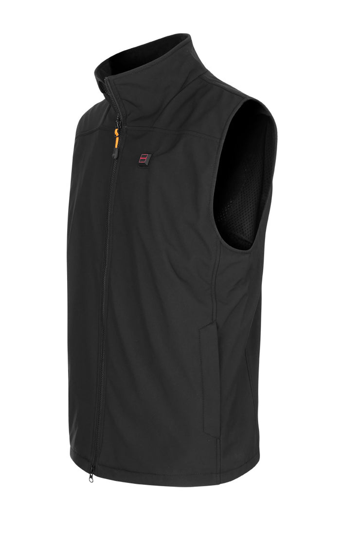 Herre-vest softshell – sort