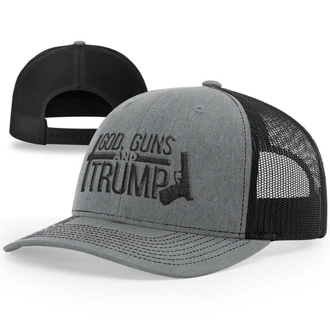 God, Guns And Trump | Cross & Gun Hat